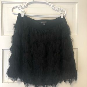 Black feather skirt from Banana Republic!